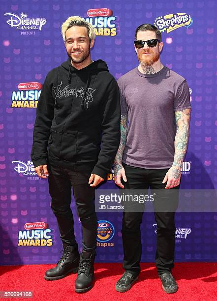 Pete Wentz and Andy Hurley attend the 2016 Radio Disney Music Awards on April 30, 2016 in Los Angeles, California.