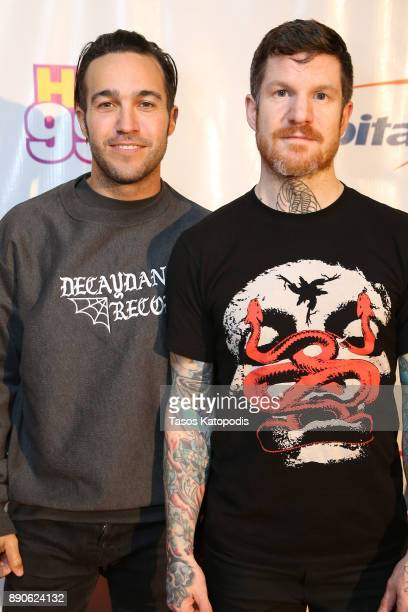 Pete Wentz and Andy Hurley of Fall Out Boy attend Hot 995's Jingle Ball 2017 Presented by Capital One at Capital One Arena on December 11 2017 in...