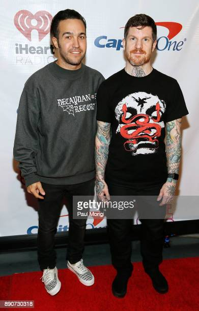 Pete Wentz and Andy Hurley of Fall Out Boy attend the Hot 995 iHeartRadio Jingle Ball 2017 at the Capital One Arena on December 11 2017 in Washington...