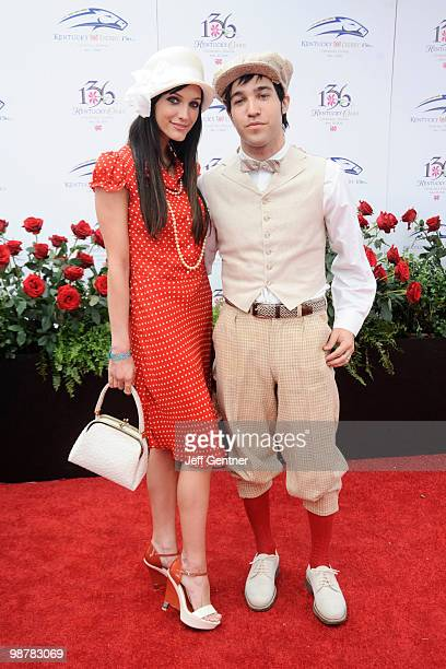 Pete Wentz and Ashlee SimpsonWentz attend the 136th Kentucky Derby on May 1 2010 in Louisville Kentucky