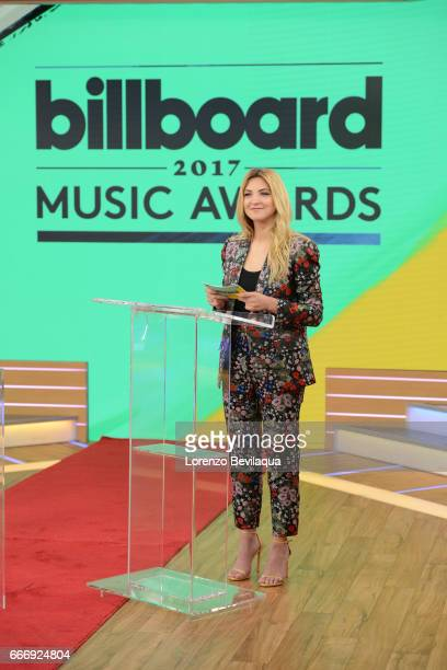 AMERICA Pete Wentz and Julia Michaels announce the nominations for the Billboard Music Awards on Good Morning America Monday April 10 2017 airing on...