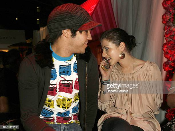 Pete Wentz and Michelle Trachtenberg during Hollywood's Elite Join TMobile at an Exclusive Launch Event in Beverly Hills for the Debut of Two New...