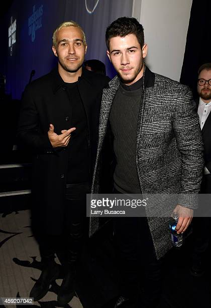 Pete Wentz and Nick Jonas attend Musicians On Call Celebrates Its 15th Anniversary Honoring Kelly Clarkson and EVP of Republic Records Charlie Walk...