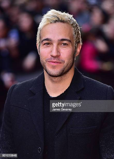 Pete Wentz arrives to Billboard's 10th Annual Women In Music at Cipriani 42nd Street on December 11, 2015 in New York City.