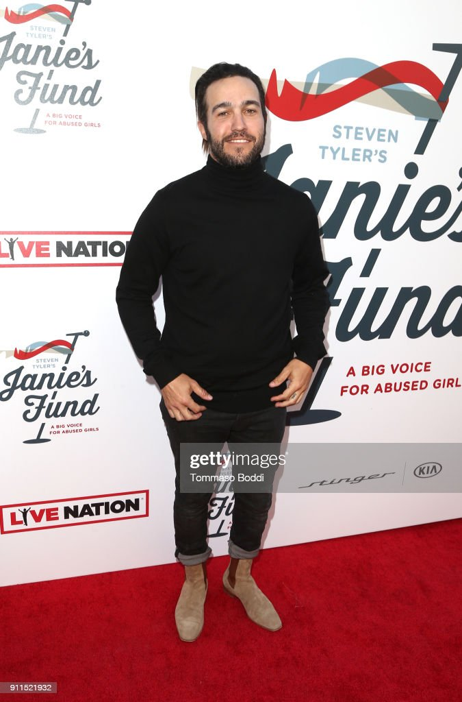 Pete Wentz at Steven Tyler and Live Nation presents Inaugural Gala Benefitting Janie's Fund at Red Studios on January 28, 2018 in Los Angeles, California.