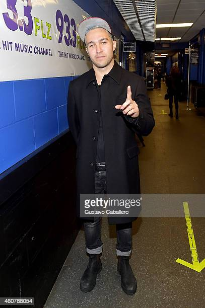 Pete Wentz attends 933 FLZ's Jingle Ball 2014 at Amalie Arena on December 22 2014 in Tampa Florida