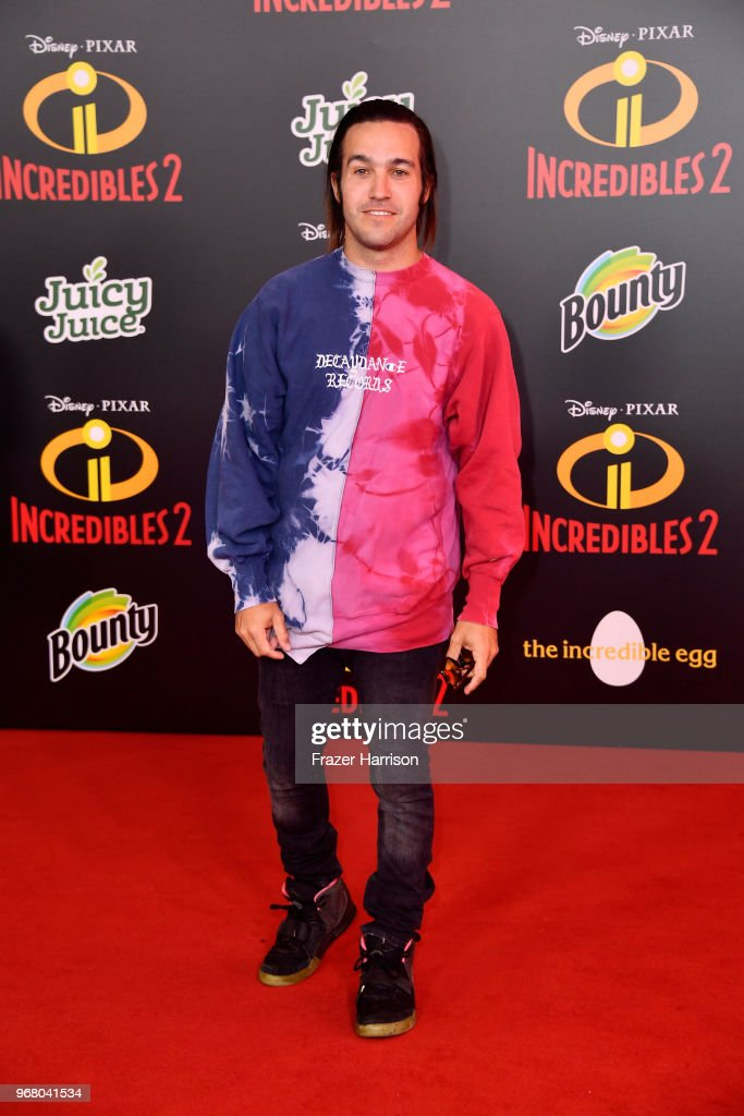 Pete Wentz attends the premiere of Disney and Pixar's 'Incredibles 2' at the El Capitan Theatre on June 5, 2018 in Los Angeles, California.