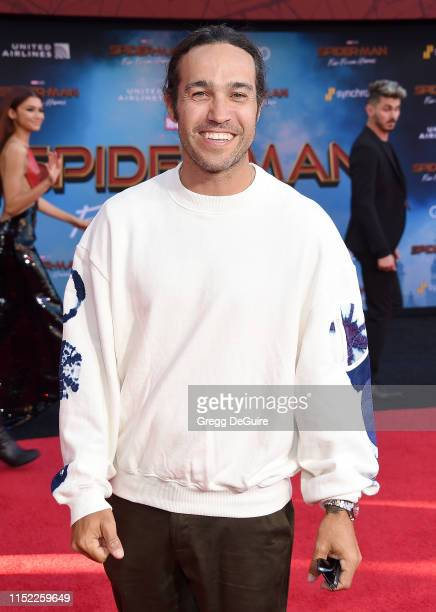 Pete Wentz attends the premiere of Sony Pictures' SpiderMan Far From Home at TCL Chinese Theatre on June 26 2019 in Hollywood California