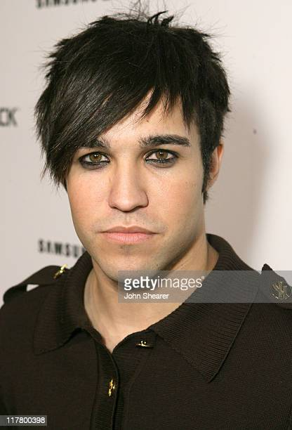 Pete Wentz during Jimmy Kimmel Hosts the Launch of The Samsung BlackJack Red Carpet at Boulevard3 in Hollywood California United States