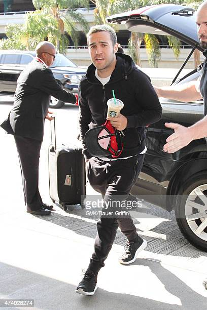 Pete Wentz is seen at LAX on May 19 2015 in Los Angeles California