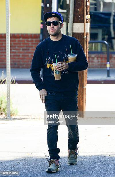 Pete Wentz is seen on April 10 2014 in Los Angeles California