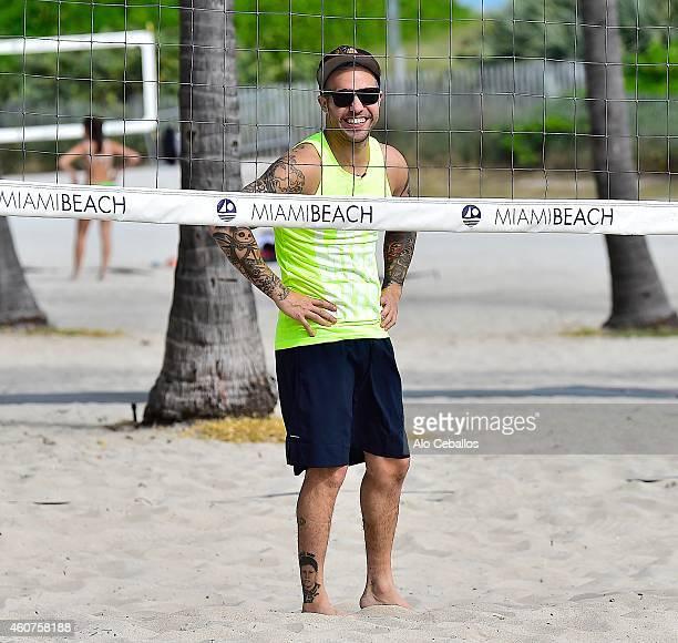 Pete Wentz is seen on December 21 2014 in Miami Beach Florida