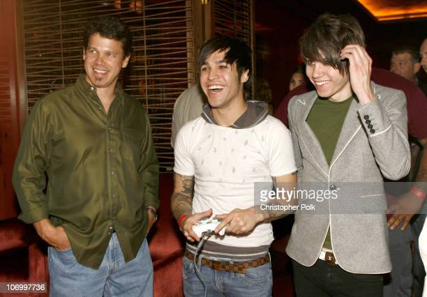Pete Wentz of Fall Out Boy and guests during X Box 360 The Godfather The Game Premiere Party at Rose Lounge in Los Angeles California United States