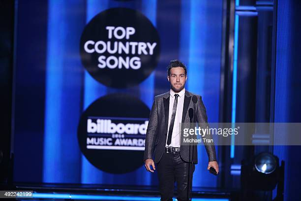 Pete Wentz of Fall Out Boy apeaks onstage during the 2014 Billboard Music Awards held at MGM Grand Garden Arena on May 18 2014 in Las Vegas Nevada