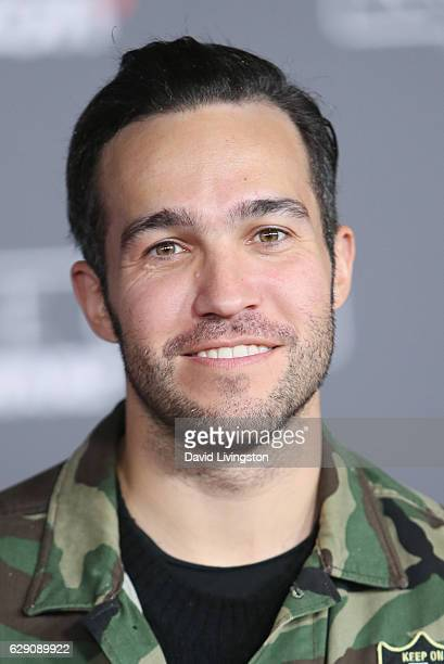 Pete Wentz of Fall Out Boy arrive at the premiere of Walt Disney Pictures and Lucasfilm's Rogue One A Star Wars Story at the Pantages Theatre on...