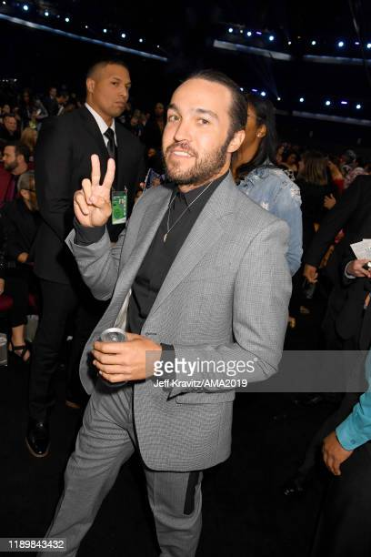 Pete Wentz of Fall Out Boy attends the 2019 American Music Awards at Microsoft Theater on November 24 2019 in Los Angeles California
