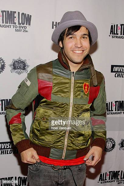 Pete Wentz of Fall Out Boy attends the screening and release party for All Time Low's 'Straight To DVD' at The Music Box on May 10 2010 in Hollywood...