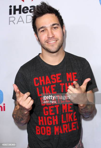 Pete Wentz of Fall Out Boy attends Y100's Jingle Ball 2013 Presented by Jam Audio Collection at BBT Center on December 20 2013 in Miami Florida