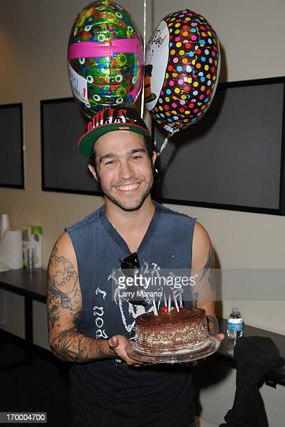 Pete Wentz of Fall Out Boy celebrates his birthday at Y 100 radio station on June 5 2013 in Miami Florida
