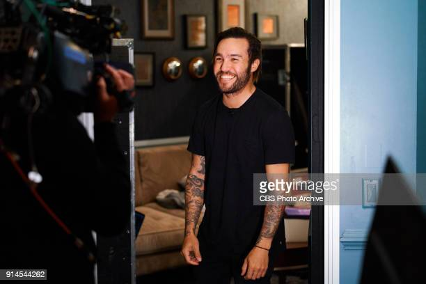 Pete Wentz of Fall Out Boy checks in from the green room with James Corden during The Late Late Show with James Corden Wednesday January 31 2018 On...