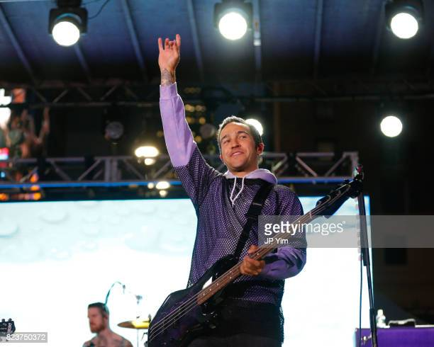 Pete Wentz of Fall Out Boy performs at Elvis Duran's 2017 Summer Bash at the Pennsy Plaza on July 27 2017 in New York City
