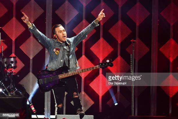 Pete Wentz of Fall Out Boy performs onstage at the Z100's Jingle Ball 2017 on December 8 2017 in New York City