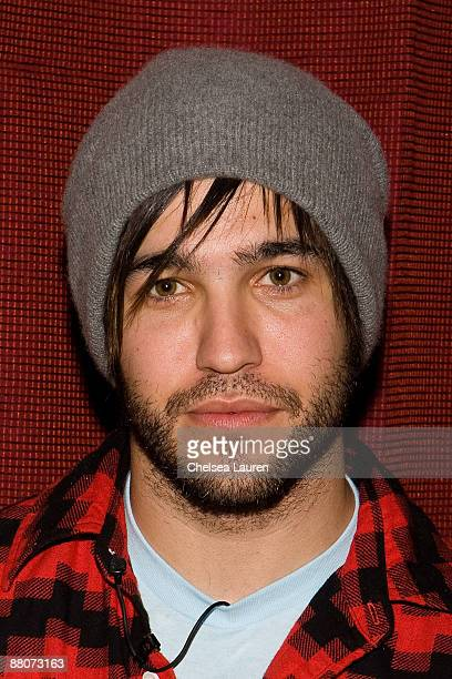 Pete Wentz of Fall Out Boy poses before selling tickets to an upcoming Blink 182 concert at the House of Blues Sunset Strip on May 30 2009 in West...