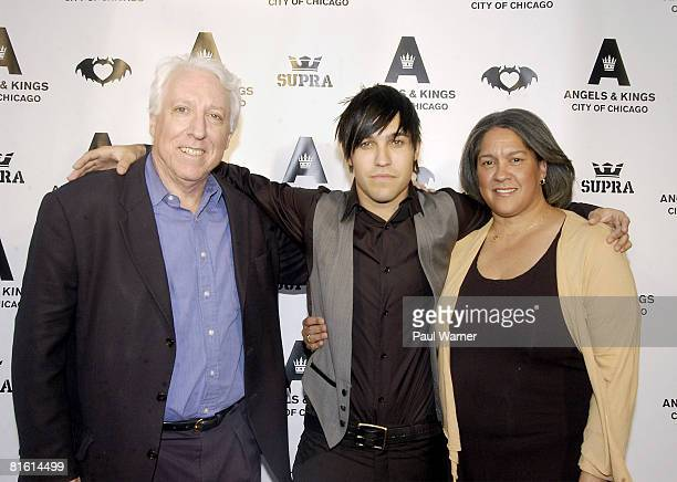 Pete Wentz parents Dale and Pete Wentz Sr attend Angels Kings' Chicago preview party and Pete Wentz's 29th birthday celebration on June 17 2008