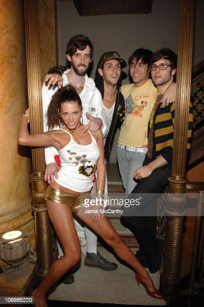 Pete Wentz with Cobra Starship during Olympus Fashion Week Spring 2007 Clandestine/Yellow Fever Front Row and Backstage at Capitale in New York City...