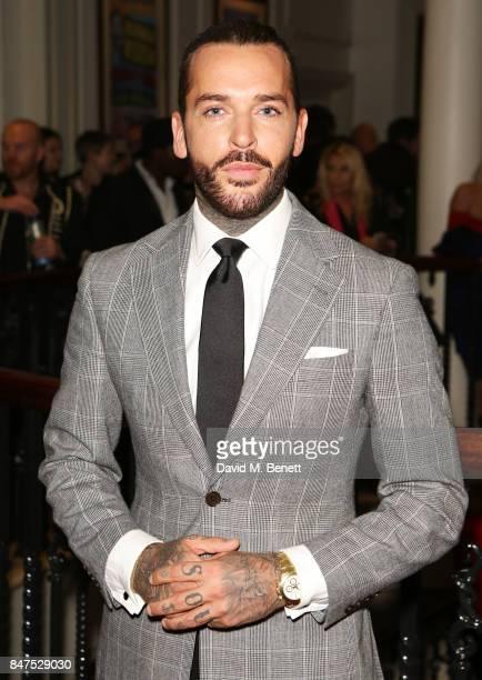 Pete Wicks attends the Joshua Kane 'Fantasy' show during London Fashion Week September 2017 at the London Palladium on September 15 2017 in London...