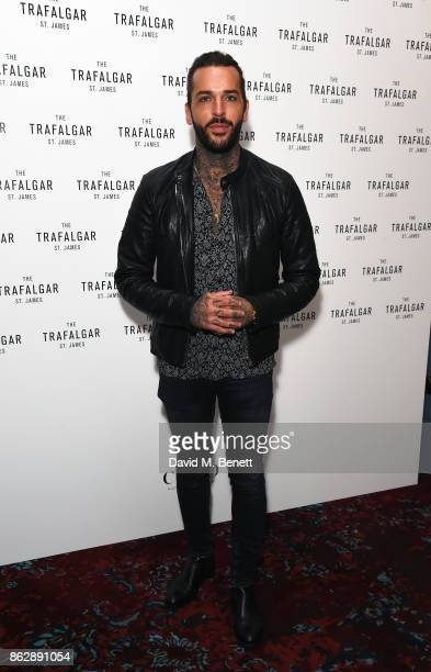Pete Wicks attends the launch of The Trafalgar St James in the hotel's spectacular new bar The Rooftop on October 18 2017 in London England