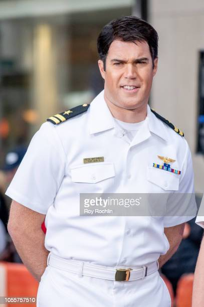Peter Alexander as Maverick from Top Gun during NBC Today Halloween 2018 show at Rockefeller Plaza on October 31 2018 in New York City