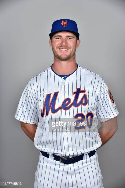Peter Alonso of the New York Mets poses during Photo Day on Thursday February 21 2019 at First Data Field in Port St Lucie Florida