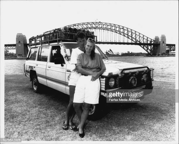 Peter amp Annie Dixon who travelled from London to Sydney in 4WD January 05 1990