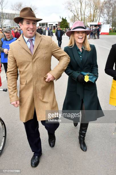 Peter and Autumn Phillips attend Day 4 of the Cheltenham Festival 2020 at Cheltenham Racecourse on March 13 2020 in Cheltenham England