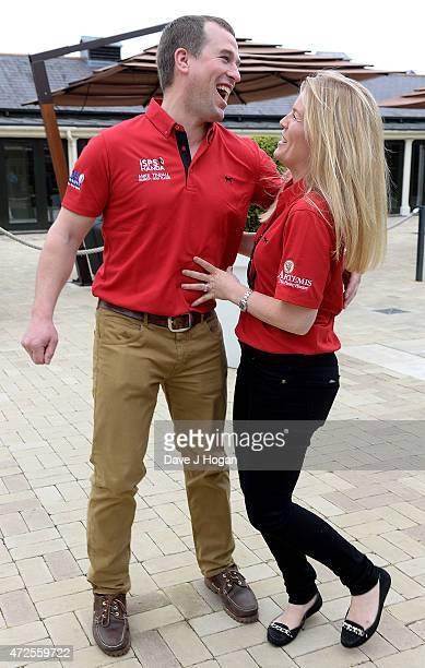 Peter and Autumn Phillips attend the ISPS Handa Mike Tindall 3rd Annual Celebrity Golf Classic at The Grove Hotel on May 8 2015 in Hertford England