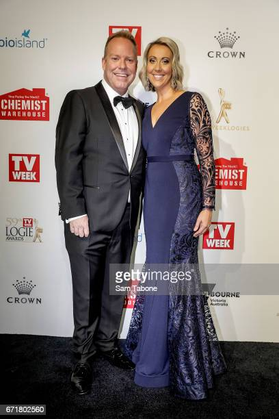 Peter and Bridget Hellier arrives at the 59th Annual Logie Awards at Crown Palladium on April 23 2017 in Melbourne Australia