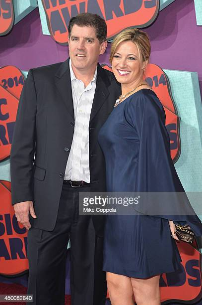 Peter and Kristen Laviolette attend the 2014 CMT Music awards at the Bridgestone Arena on June 4 2014 in Nashville Tennessee