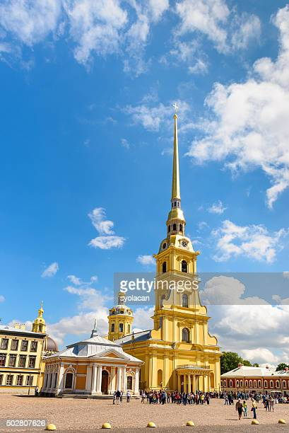 peter and paul cathedral, saint petersburg, russia - syolacan stock pictures, royalty-free photos & images