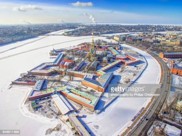 Peter and Paul Fortress aerial view
