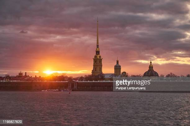 peter and paul fortress in the city of st. petersburg, russia - russia stock pictures, royalty-free photos & images