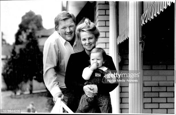 Peter Anderson and his wife Kay and his son Dominique April 30 1989