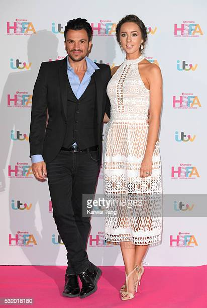 Peter Andre and Emily MacDonagh attend the Lorraine's High Street Fashion Awards at Grand Connaught Rooms on May 17 2016 in London England