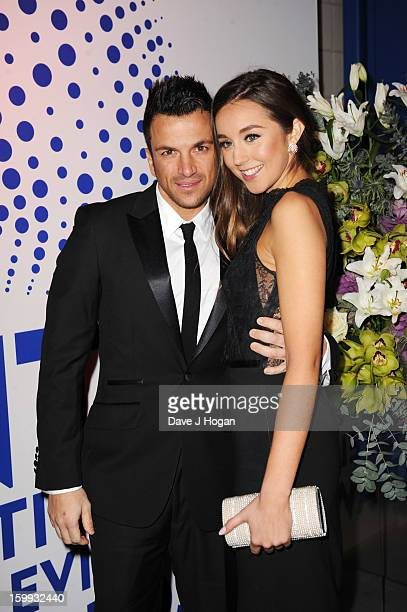 Peter Andre and Emily Macdonagh attend the National Television Awards 2013 at The O2 Arena on January 23 2013 in London England