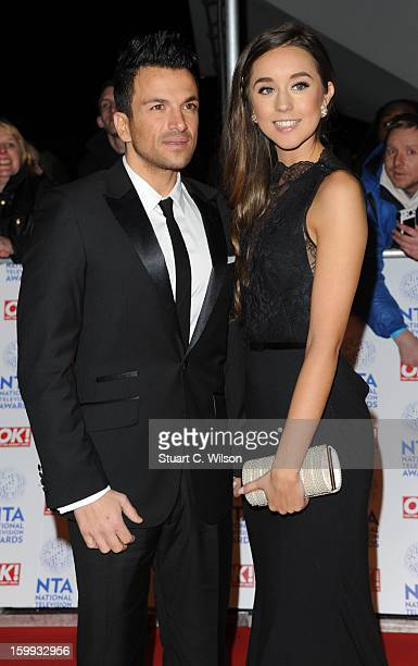 Peter Andre and Emily MacDonagh attend the National Television Awards at 02 Arena on January 23 2013 in London England