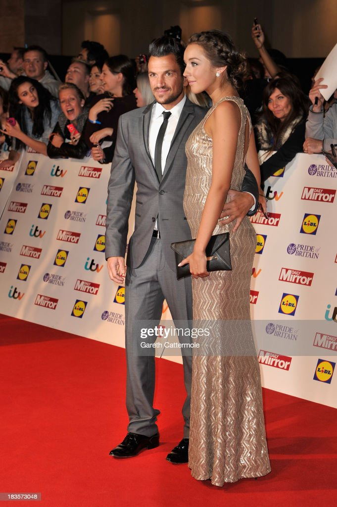Peter Andre and Emily MacDonagh attend the Pride of Britain awards at Grosvenor House on October 7, 2013 in London, England.