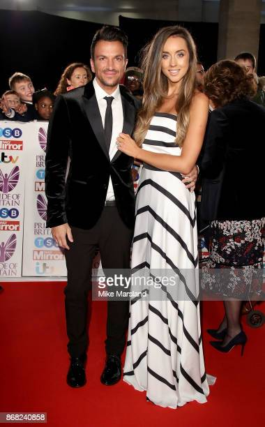Peter Andre and Emily MacDonagh attend the Pride Of Britain Awards at Grosvenor House on October 30 2017 in London England