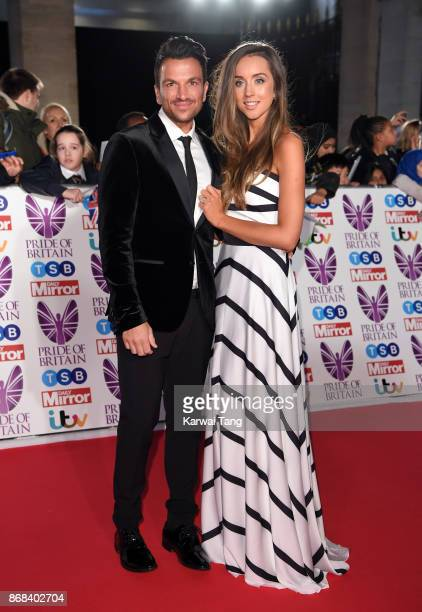 Peter Andre and Emily MacDonagh attend the Pride Of Britain Awards at the Grosvenor House on October 30 2017 in London England