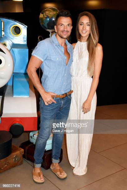 Peter Andre and Emily MacDonagh attend the UK premiere of 'Thomas The Tank Engine Big World Big Adventures The Movie' at Vue West End on July 7 2018...