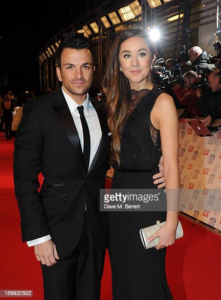 Peter Andre and Emily MacDonagh attends the the National Television Awards at 02 Arena on January 23 2013 in London England